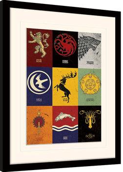 Game of Thrones - Sigils Poster Emoldurado