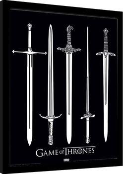 Game Of Thrones - Swords Poster Emoldurado