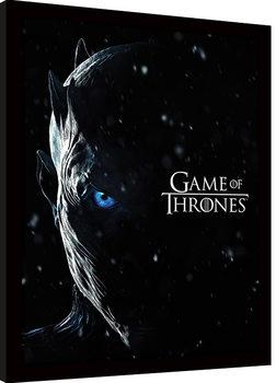 Game Of Thrones - The Night King Poster Emoldurado
