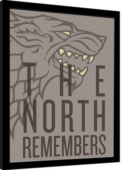 Game of Thrones - The North Remembers Poster Emoldurado