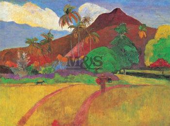 Reprodução do quadro  Gauguin - paesaggio Tahitiano