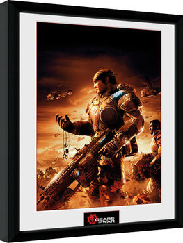 Gears of War - Gears 2 Poster Emoldurado