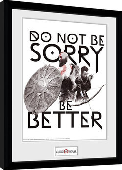 God Of War - Don't Be Sorry Poster Emoldurado