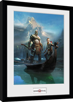 God Of War - Key Art Poster Emoldurado