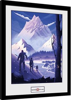 God Of War - Mountain Poster Emoldurado