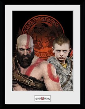 God Of War - Portraits Poster Emoldurado