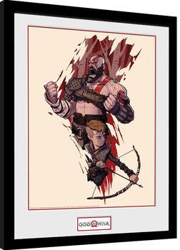 God Of War - Toon Poster Emoldurado