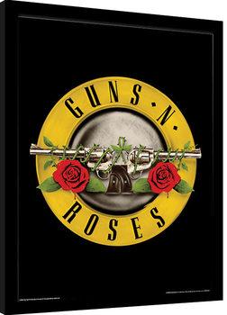 Guns N Roses - Bullet Logo Poster Emoldurado