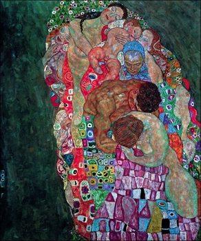 Reprodução do quadro  Gustav Klimt - Tod Und Leben
