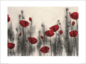 Reprodução do quadro Hans Andkjaer - Red Poppies