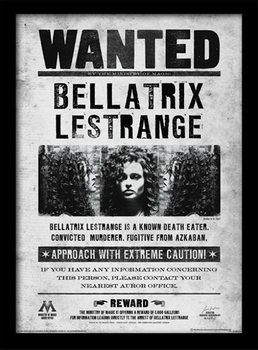 Harry Potter - Bellatrix Wanted Poster Emoldurado