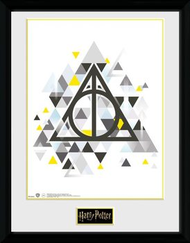 Harry Potter - Deathly Pixels Poster Emoldurado