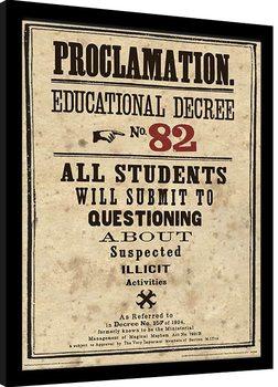 Harry Potter - Educational Decree No. 82 Poster Emoldurado