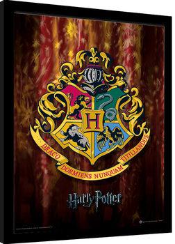 Harry Potter - Hogwarts Crest Poster Emoldurado
