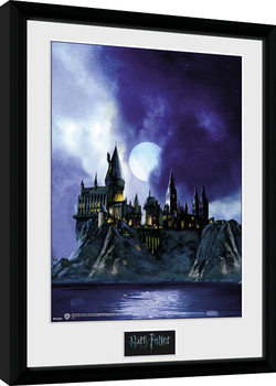 Harry Potter - Hogwarts Painted Poster Emoldurado