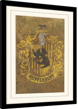 Harry Potter - Hufflepuff Crest Poster Emoldurado