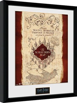Harry Potter - Marauder's Map Poster Emoldurado