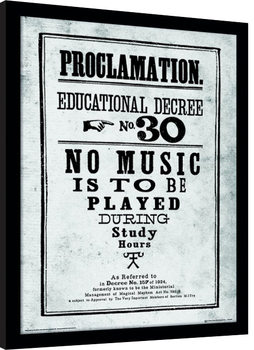 Harry Potter - Proclamation Poster Emoldurado