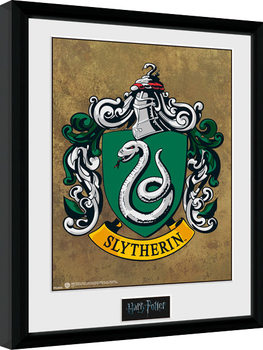 Harry Potter - Slytherin Poster Emoldurado