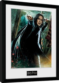 Harry Potter - Snape Wand Poster Emoldurado