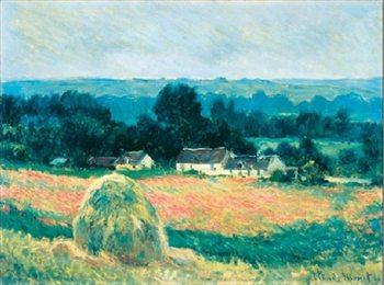Reprodução do quadro Haystack at Giverny