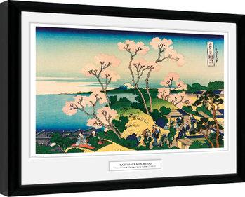 Hokusai - Goten Yama Hill Poster Emoldurado