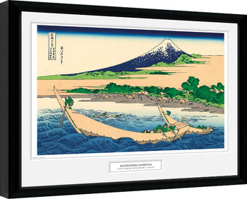 Hokusai - Shore of Tago Bay Poster Emoldurado