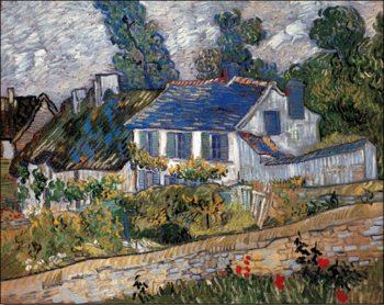 Reprodução do quadro  Houses in Auvers, 1890