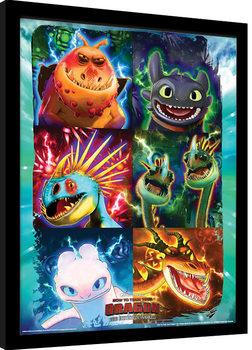 How To Train Your Dragon 3 - Mug Shots Poster Emoldurado