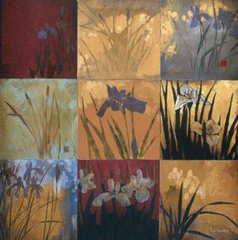 Reprodução do quadro Iris Nine Patch II