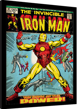 Iron Man - Birth Of Power Poster Emoldurado