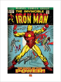 Reprodução do quadro Iron Man