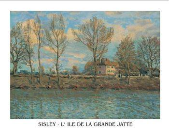 Reprodução do quadro  Island of La Grande Jatte