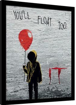 IT - Georgie Graffiti Poster Emoldurado