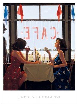 Reprodução do quadro  Jack Vettriano - Cafe Days