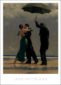 Reprodução do quadro  Jack Vettriano - Dancer In Emerald