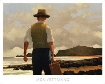 Reprodução do quadro  Jack Vettriano - The Drifter Poster