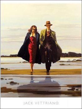 Reprodução do quadro Jack Vettriano - The Road To Nowhere
