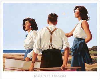 Reprodução do quadro  Jack Vettriano - Young Hearts