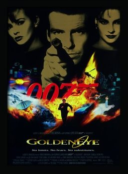 JAMES BOND 007 - Goldeneye Poster Emoldurado