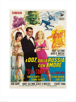 Reprodução do quadro James Bond - From Russia With Love - Sketches