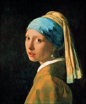 Reprodução do quadro Jan Vermeer - Testa Di Fanciulla