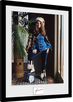 Janis Joplin - Wolman Colour Poster Emoldurado