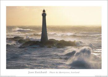 Reprodução do quadro Jean Guichard - Phare De Skerryvore, Scotland