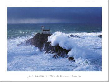 Reprodução do quadro  Jean Guichard - Phare De Tevennec, Bretagne