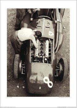 Reprodução do quadro Jesse Alexander - Ferrari Mechanic, French GP, 1954