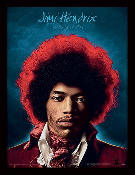 Jimi Hendrix - Both Sides of the Sky Poster Emoldurado