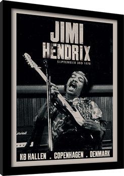 Jimi Hendrix - Copenhagen Poster Emoldurado