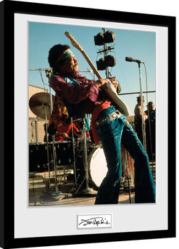 Jimi Hendrix - Live Poster Emoldurado