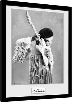 Jimi Hendrix - Pose Poster Emoldurado